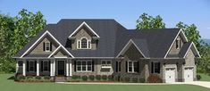 This 1.5 story  features 3870 sq feet. Call us at 866-214-2242 to talk to a House Plan Specialist about your future dream home!
