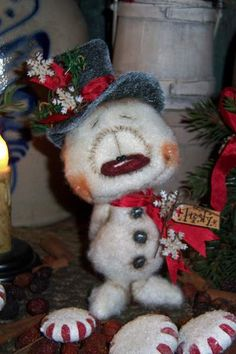 Frosty Snowman Bear by By Patti Sikes of Patti's Ratties | Bear Pile