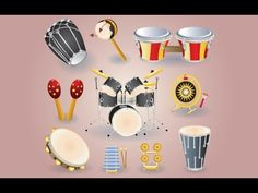 Illustration about A collection of drums musical instruments. Illustration of orchestra, band, chord - 13168599 Drum Musical Instrument, Techno, Teaching Music, Music Lessons, Percussion, School Projects, Orchestra, Music Videos, Kids