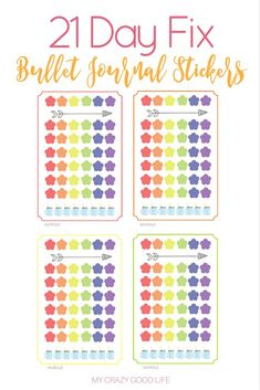 21 Day Fix Bullet Journal Stickers