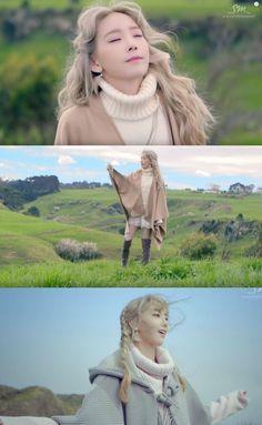 "Taeyeon's Bohemian Look in Her 1st Single Album Music Video ""I"""