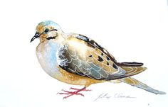 Watercolor Painting, Original Painting, Morning Dove, 6x9 via Etsy