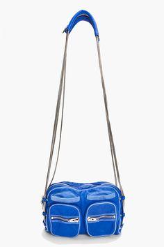 ALEXANDER WANG Blue Brenda Zip Chain Bag
