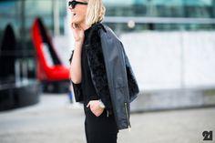 Amy Todd | Auckland #fashion #streetstyle #leather #fur #furdetail #fallfashion #style inspiration #allblack