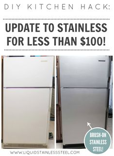 Liquid Stainless Steel™ by Giani™   The easy and affordable way to DIY update kitchen appliances.  The 100% Stainless Steel coating creates a professional looking finish with just a roller and brush!