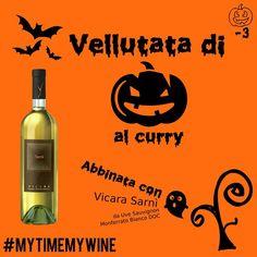 Vellutata di zucca aromatizzata al curry + Vicara Sarnì da Uve Sauvignon Monferrato Bianco DOC.