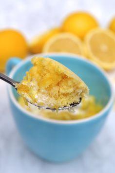 4-Minute Lemon Mug Cake | Gluten Free
