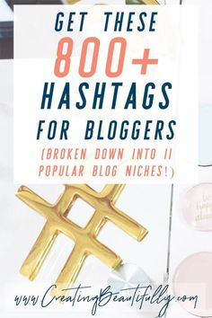 Check out these 800+ Hashtags for bloggers (broken down by niche) on CreatingBeautifully.com! #hashtags #creatingbeautifully #hashtagsforbloggers #instagramhashtags Digital Marketing Strategy, Content Marketing, Online Marketing, Media Marketing, Affiliate Marketing, Instagram Marketing Tips, Instagram Tips, Instagram Hashtag, Make Money Blogging