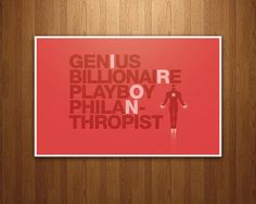 Iron Man Poster - Marvel Avengers Quote RED