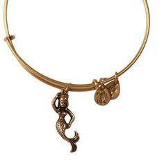 Alex and Ani Mermaid Expandable Wire Bangle Russian Gold