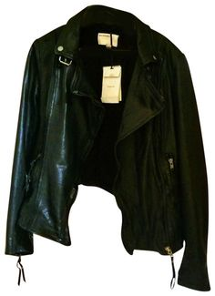 2addd6af8 Muubaa Black Women s Biker By Leather Jacket Size 10 (M). Free shipping and