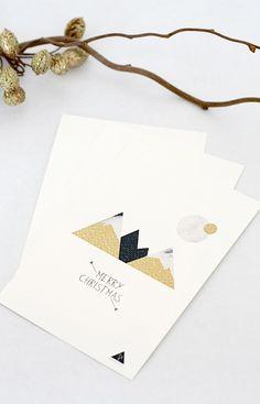 Christmas Card- Mountain - Set de 3 cartes 10x15 cm (photographie numérique). €4,50, via Etsy.