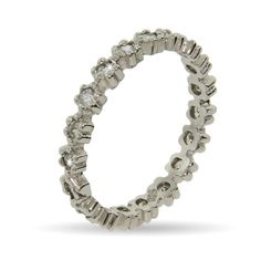Stackable Reflections Ring of Diamond CZ Stackable Ring $28