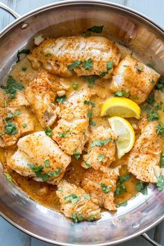 Buttered Cod in Skillet. Ready in under 15 minutes and soo good!.