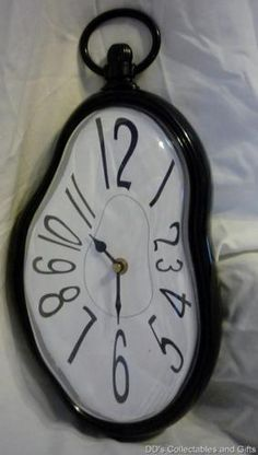 Melting Wall Clock, Great for Dorm Rooms and First Apartments or Game Rooms