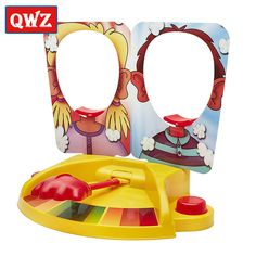 QWZ 2017 Funny Double Person Toy Cake Cream Pie In The Face Child Games Antistress Anti StressToys Kids Gift Party Fun Game