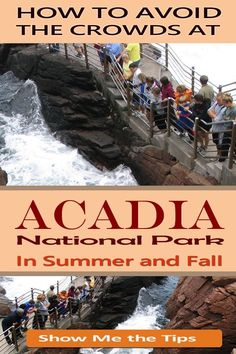 How to avoid the crowds in summer and fall at Acadia National Park in Maine. Must-know tips! Also very helpful if you go with kids. #acadia #maine #summer