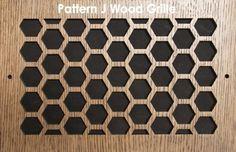"Wood Vent Grille - Pattern ""J"" Design | patterncut.com"