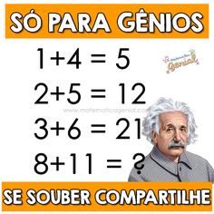 Math Riddles With Answers, Brain Teasers With Answers, Logic Math, Fnaf Baby, Circus Baby, Maths Puzzles, Typography Inspiration, Albert Einstein, Memes