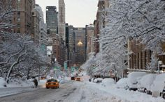 New York City in the snow~~~~