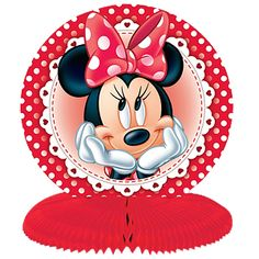 Decoration: Minnie Mouse Polka Dot Party Table Centrepieces