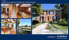 This beautiful Fox Hill Farm in the rolling hills of Simpsonville is our Extraordinary Property of the Week. Peaceful surroundings with updated amenities. 4 bedroom historic home that was rebuilt from the slab up, brick by brick in original Federal style. Handsome moldings, woodwork, and built-ins. 4 working fireplaces, an open, airy kitchen. More info at: http://www.lenihansothebysrealty.com/sales/detail/223-l-954-n3n4kr/912-webb-road-simpsonville-ky-40067