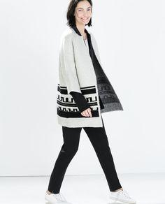 ETHNIC JACQUARD SHORT COAT-Coats-Outerwear-WOMAN | ZARA United States
