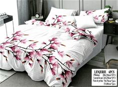 Lenjeria de pat 2 persoane 6 piese din bumbac satinat este confectionata din tesatura de bumbac si tesatura tip satin. Comforters, Satin, Blanket, Bed, Home, Creature Comforts, Quilts, Stream Bed, Elastic Satin