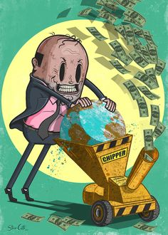 Steve Cutts tells it like it is.