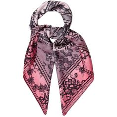 Pre-owned Elie Saab Printed Silk Scarf ($125) ❤ liked on Polyvore featuring accessories, scarves, pink, print scarves, pink silk scarves, patterned scarves, elie saab and silk shawl