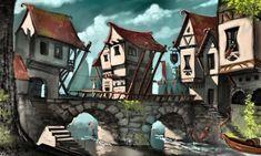 Medieval Fantasy Bridge City – Saturday's Jigsaw Puzzle
