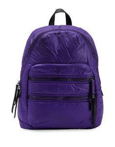 Liebeskind Berlin Saku Leather-Blend Backpack Women's Purple