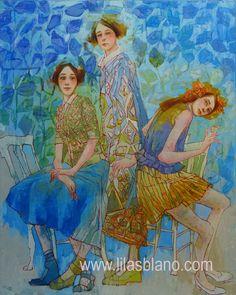 L'Intruse 125 x 105 cm By Lilas Blano Dress Painting, Figure Painting, Gouache Painting, Painting & Drawing, Realism Art, Magazine Art, Medium Art, Landscape Art, Figurative Art