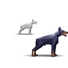 Freevector21: Vector doberman stylized