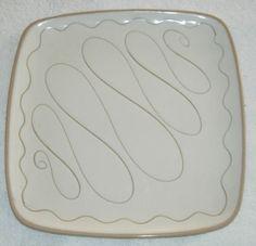 """Glidden Pottery/Stoneware Square Plate 10"""" x 10"""" (31)"""