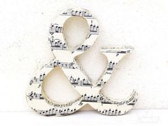 Letters covered in music. Love!