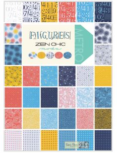 Figures  Charm Square  Applique, patchwork and quilting fabrics- by Zen Chic for Moda Fabrics.