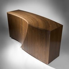 """Wave"" - bespoke cabinet in Fumed Oak. www.johnleefurniture.com"