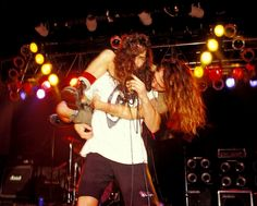 Eddie Vedder and Chris Cornell, 1991