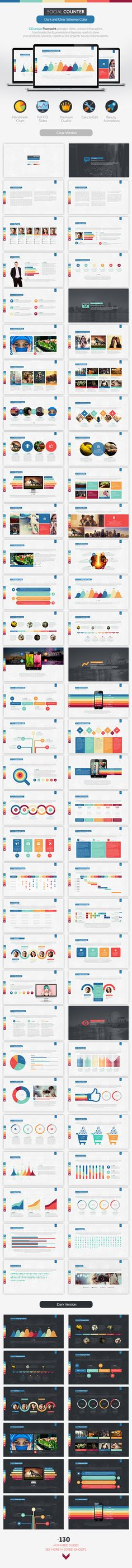 Social Counter | Powerpoint Presentation Template #design #slides Download: http://graphicriver.net/item/social-counter-powerpoint-presentation/12850713?ref=ksioks
