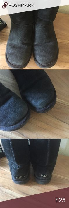 Black Uggs Size 8 Uggs in need of new home. They are used but still have lots of life left in them. The liners are intact but are somewhat compressed. Great pair for everyday use. Winter is coming! Please see all photos. Reasonable offers considered. UGG Shoes Winter & Rain Boots