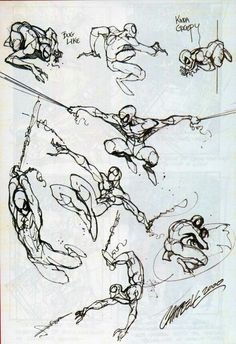 Spider-Man sketches J Scott Campbell
