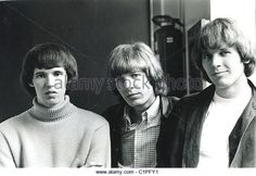 WALKER BROTHERS US pop trio in June 1966 from l: Gary Leeds, Scott Walker, John Maus. Photo Tony Gale - Stock Image