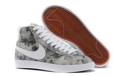 Cheap 2015 NIKE BLAZER MID 658286 059 women grey white shoes