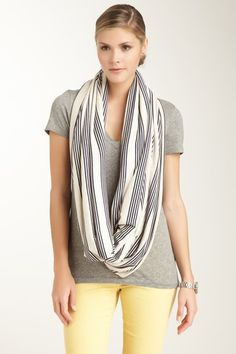 Stripe Circle Scarf