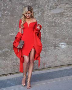 58a24c05a25dc 2017 women s new arrivals red off shoulder slash neck rayon mini bandage  dress
