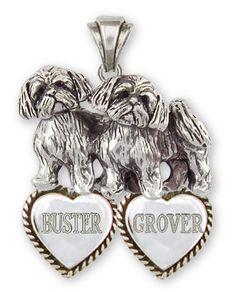 Shih Tzu Personalized Pendant Handmade Silver Shih Tzu Jewelry SZ24-TP