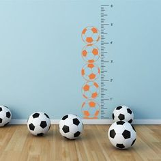 The Decal Guru Soccer Growth Chart Wall Decal Color: