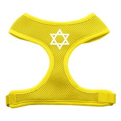 Mirage Pet Products Star of David Screen Print Soft Mesh Dog Harnesses, Small, Yellow * Want to know more, click on the image. (This is an Amazon affiliate link)