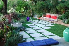 planters with built in seating